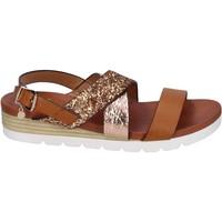 Sapatos Mulher Sandálias Rocco Barocco sandali glitter pelle sintetica Marrone