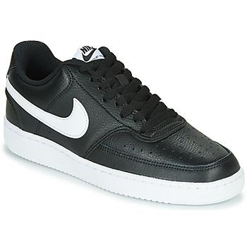 Sapatos Mulher Sapatilhas Nike COURT VISION LOW Preto / Branco
