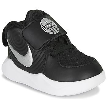 Sapatos Rapaz Sapatilhas de basquetebol Nike TEAM HUSTLE D 9 TD Preto / Prata