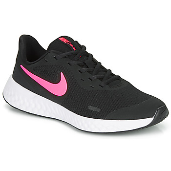 Sapatos Rapariga Multi-desportos Nike REVOLUTION 5 GS Preto / Rosa
