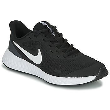 Sapatos Criança Sapatilhas Nike REVOLUTION 5 GS Preto / Branco