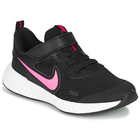 Sapatos Rapariga Multi-desportos Nike REVOLUTION 5 PS Preto / Rosa