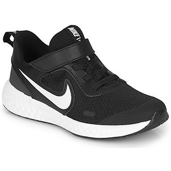 Sapatos Criança Sapatilhas Nike REVOLUTION 5 PS Preto / Branco