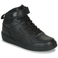 Sapatos Criança Sapatilhas de cano-alto Nike COURT BOROUGH MID 2 GS Preto