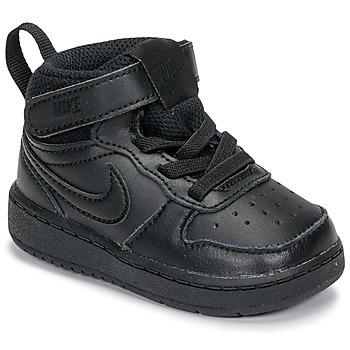 Sapatos Criança Sapatilhas de cano-alto Nike COURT BOROUGH MID 2 TD Preto