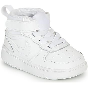 Sapatos Criança Sapatilhas Nike COURT BOROUGH MID 2 TD Branco