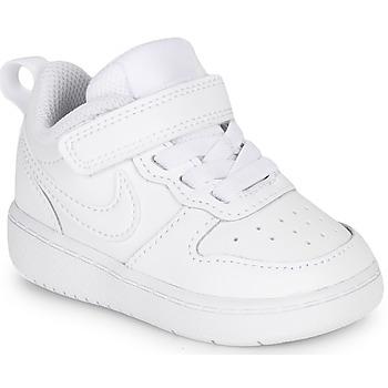 Sapatos Criança Sapatilhas Nike COURT BOROUGH LOW 2 TD Branco