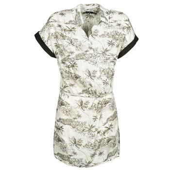Textil Mulher Vestidos curtos Volcom VACAY ME SS DRESS Estrela / Branco