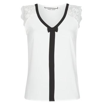 Textil Mulher Tops / Blusas Naf Naf CORAZON Branco