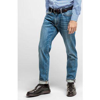 Textil Homem Calças Jeans Gant CALÇAS DE GANGA SLIM FIT Azul