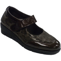 Sapatos Mulher Mocassins 48 Horas Merceditas sapatos mulher couro e lycra marrón