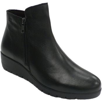 Sapatos Mulher Botas Pepe Menargues Bota mulher meia cana com fecho Pepe Men negro
