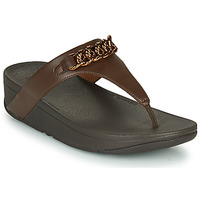 Sapatos Mulher Chinelos FitFlop LOTTIE CHAIN TOE-THONGS Castanho
