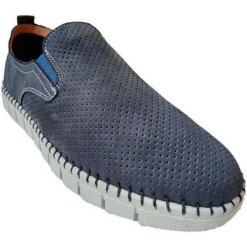 Sapatos Homem Mocassins Primocx Sapato homem amplo especial confortável azul