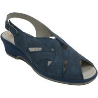 Sapatos Mulher Sandálias Made In Spain 1940 Sandálias de mulher de borracha muito co azul