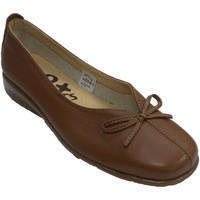 Sapatos Mulher Mocassins 48 Horas Vamp de abertura da mulher com o peito d marrón