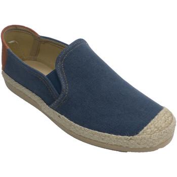 Sapatos Homem Chinelos Made In Spain 1940 Sapato homem com o dedo do pé e esparto azul