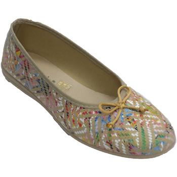 Sapatos Mulher Chinelos Made In Spain 1940 Sapatos de mulher tipo sapatilhas com co beige