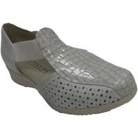 Sapatos Mulher Sandálias Pitillosms Sandália mulher fechada calcanhar e dedo gris