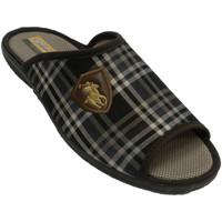Sapatos Homem Chinelos Aguas Nuevas Man open checkered flip flops dedo do pé marrón