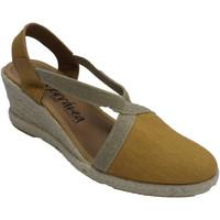 Sapatos Mulher Chinelos Calzamur Calçados femininos fecham o dedo do pé e amarillo