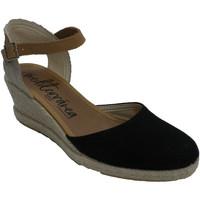 Sapatos Mulher Chinelos Calzamur Chinelo mulher cunha calcanhar tira no t negro