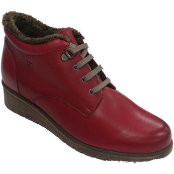 Sapatos Mulher Botas baixas Pepe Menargues Bota atada para mulher com forro interio rojo