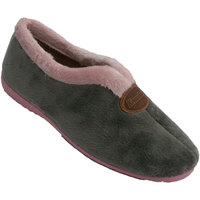Sapatos Mulher Chinelos Made In Spain 1940 Abertura de peito do pé fechado de sapat gris