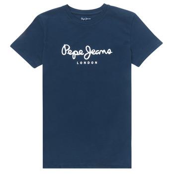 Textil Rapaz T-Shirt mangas curtas Pepe jeans ART Marinho