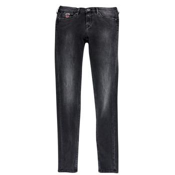 Textil Rapariga Calças de ganga slim Pepe jeans PAULETTE Preto