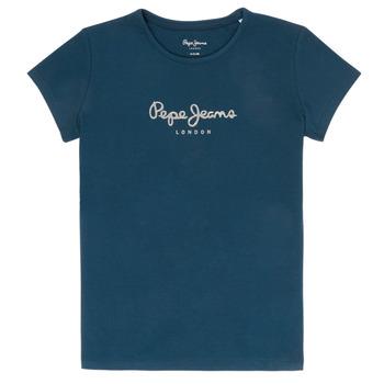 Textil Rapariga T-Shirt mangas curtas Pepe jeans HANA GLITTER Marinho
