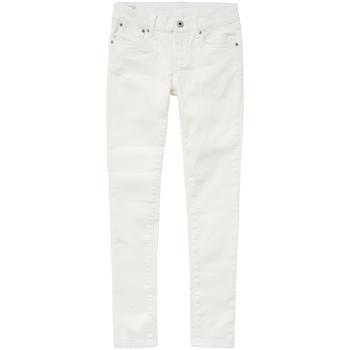Textil Rapariga Gangas Skinny Pepe jeans PIXLETTE Branco