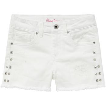 Textil Rapariga Shorts / Bermudas Pepe jeans ELSY Branco