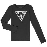 Textil Rapariga T-shirt mangas compridas Guess GARICE Preto