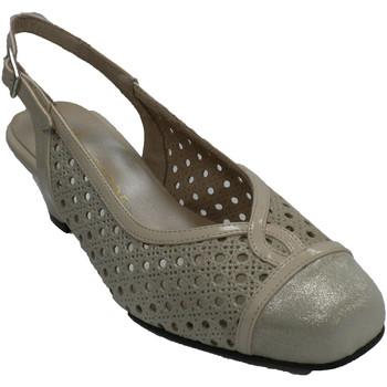 Sapatos Mulher Sandálias Trebede Sapata de vestido aberto mulher por trás beige