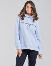 Textil Mulher Sweats Tommy Hilfiger TH ESS HILFIGER HOODIE LS Azul / Céu