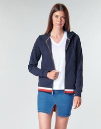 Textil Mulher Sweats Tommy Hilfiger HERITAGE ZIP THROUGH HOODIE Marinho