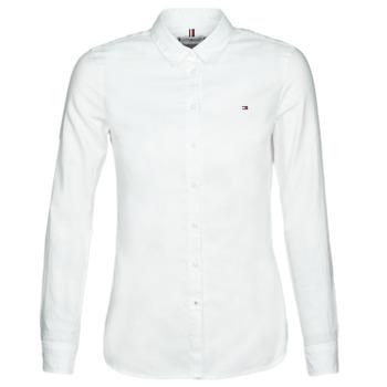 Textil Mulher camisas Tommy Hilfiger HERITAGE REGULAR FIT SHIRT Blc