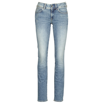 Textil Mulher Calças Jeans G-Star Raw MIDGE MID STRAIGHT WMN Azul