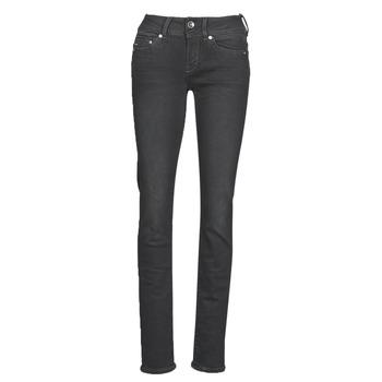 Textil Mulher Calças Jeans G-Star Raw Midge Mid Straight Wmn Cinza / Escuro