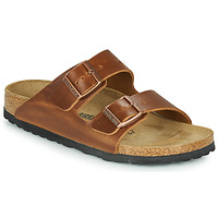 Sapatos Chinelos Birkenstock ARIZONA LEATHER Castanho
