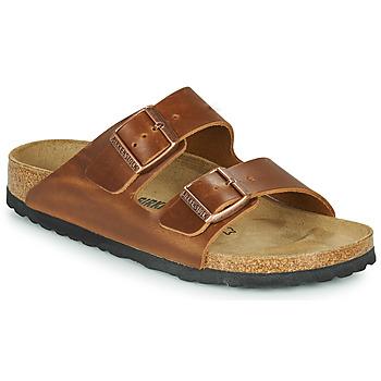 Sapatos Chinelos Birkenstock ARIZONA LEATHER Castanho