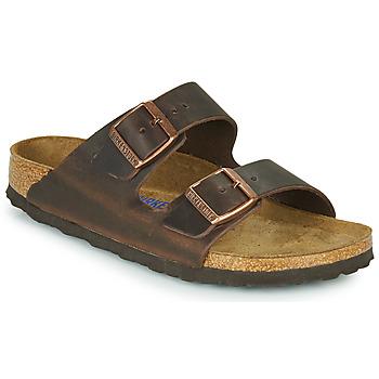 Sapatos Mulher Chinelos Birkenstock ARIZONA SFB LEATHER Castanho