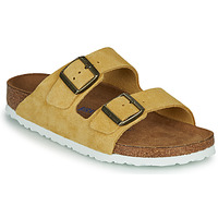Sapatos Mulher Chinelos Birkenstock ARIZONA SFB LEATHER Mostarda
