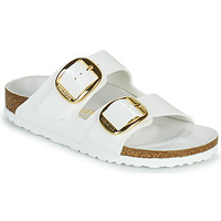 Sapatos Mulher Chinelos Birkenstock ARIZONA BIG BUCKLE Branco / Ouro