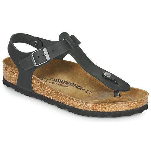 Sapatos Mulher Sandálias Birkenstock KAIRO LEATHER Preto