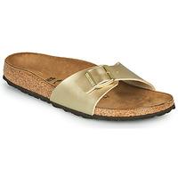Sapatos Mulher Chinelos Birkenstock MADRID Ouro / Dourado