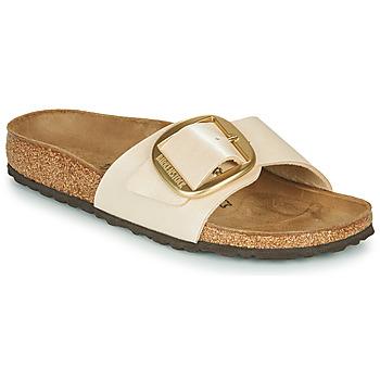 Sapatos Mulher Chinelos Birkenstock MADRID BIG BUCKLE Pérola / Branco