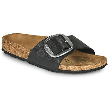 Sapatos Mulher Chinelos Birkenstock MADRID BIG BUCKLE Cinza / Escuro