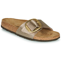 Sapatos Mulher Chinelos Birkenstock MADRID BIG BUCKLE Toupeira / Bronze